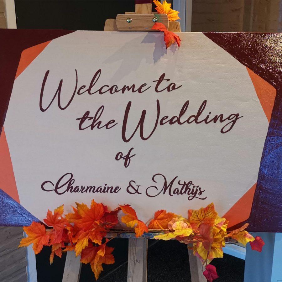 Herfst thema bij bruiloften