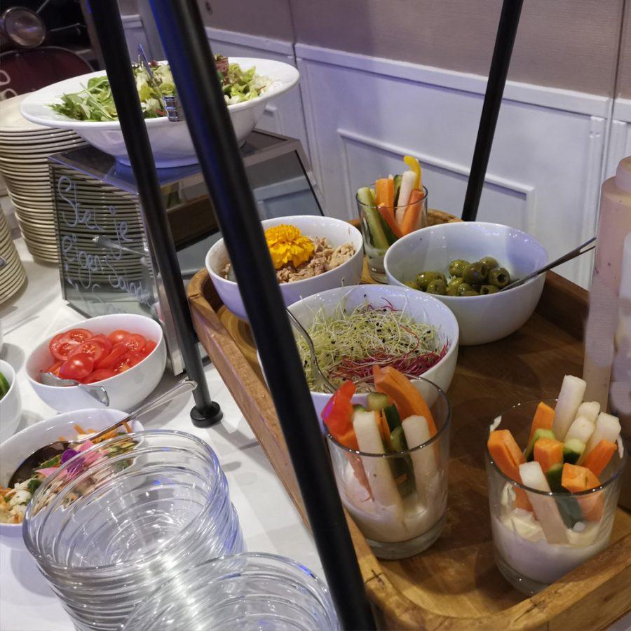 Salad bar bij buffetten