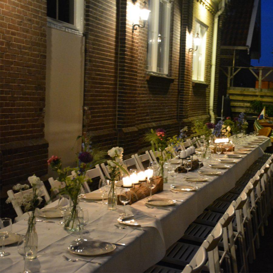 Buiten dineren voor bruiloften